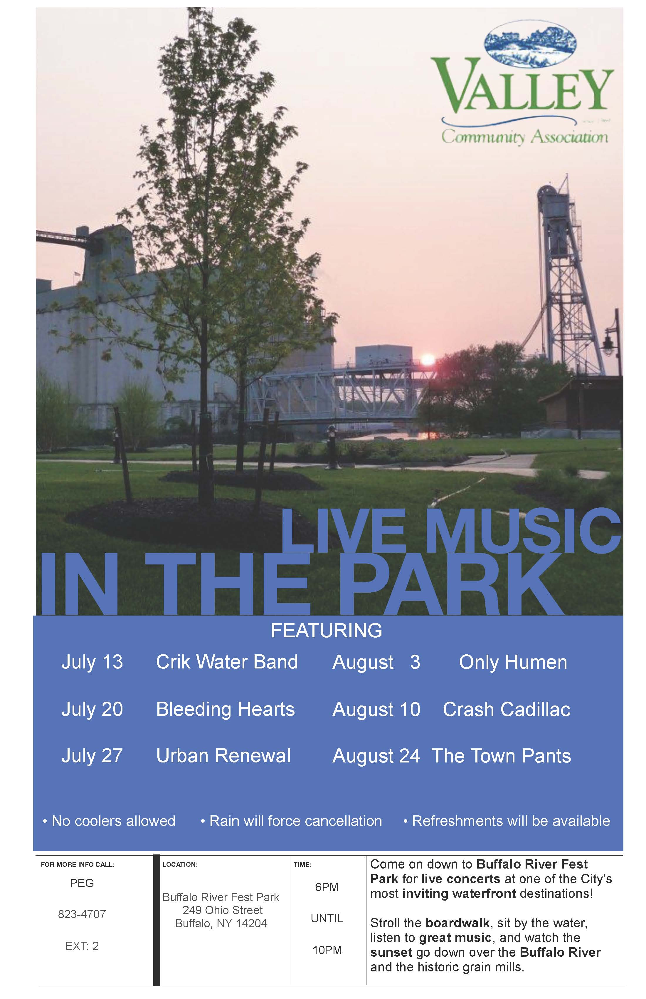 Wednesday Night Concert Series at RiverFest Park
